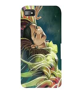 ColourCraft Beautiful Girl Design Back Case Cover for BLACKBERRY Z10