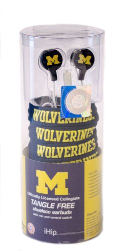 Ncaa Michigan Wolverines Shoelace Earbuds
