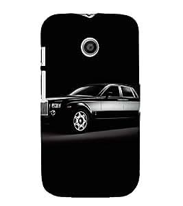 VINTAGE LUXURIOUS BLACK AUTOMOBILE 3D Hard Polycarbonate Designer Back Case Cover for Motorola Moto E XT1021 :: Motorola Moto E (1st Gen)