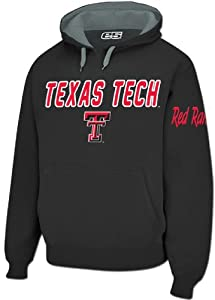 Texas Tech Red Raiders Mens Black Embroidered Combo Hooded Sweatshirt by E5