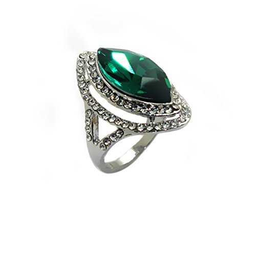 Imixlot Gold Plated Crystal Amethyst Zircon Queen Finger Ring