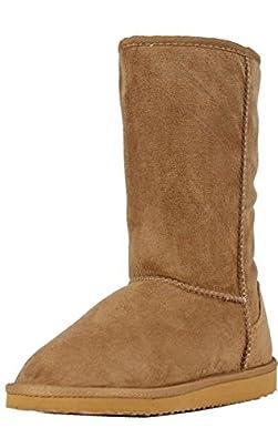 U.A.A. INC Women's Tall Classic Faux Sheepskin Boot,6 B(M) US,Camel HS001.Camel HS001