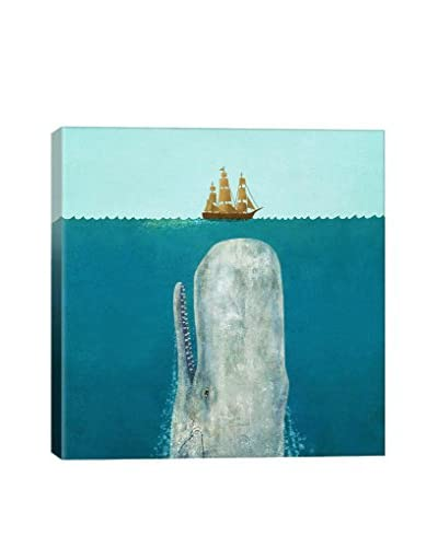 Terry Fan The Whale Square Gallery-Wrapped Canvas Print