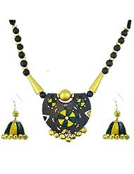 "ARTWOOD ""Tere Jhumke Pe Meri Nazar"" 3-piece IndoWestern TerraCotta Jewellery Set"