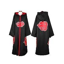 HOT Anime Naruto Cosplay Costumes Akatsuki Ninja Uniform