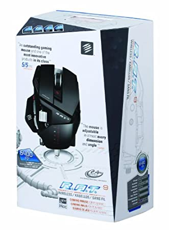 Mad Catz R.A.T. 9 Professional Wireless Gaming Mouse for PC and Mac