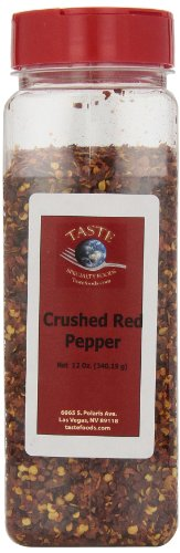 Taste Specialty Foods, Crushed Red Pepper, 12-Ounce Jars (Pack of 2)