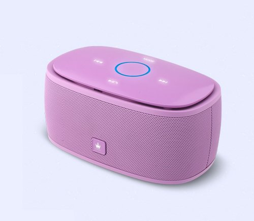 Kingone K5 Bluetooth Speaker With Tf Car Mp3 Player And Handsfree - 360-Degree And Both Of Top & Bottom Surround Sound & Super Bass (Purple)