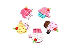 Ema Jane - Vintage Baby Hair Bow Clip Sets (Cupcakes (Delicious))