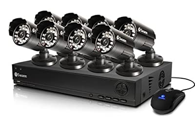 Swann SWDVK-825558-US 8-Channel DVR and 8 x 540 TVL Cameras (Black)