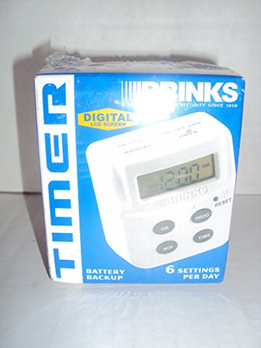 Brinks 44-1020 Digital LCD Screen Timer with Battery Back up & 6 Settings Per Day (Light Timer Brinks compare prices)
