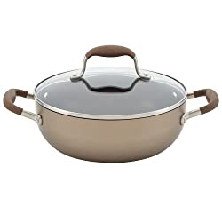 Anolon Advanced Bronze Hard Anodized Nonstick 3.5-Quart Covered Chefs Casserole