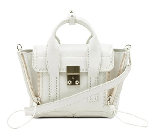 Bagqueen 100% Genuine Leather Smile Handbags Small Monster Handbags Mini Cross Body Handbags (Small, White)