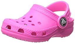 crocs Kid\'s Classic Clog 10006,Neon Magenta,C8C9 Toddler