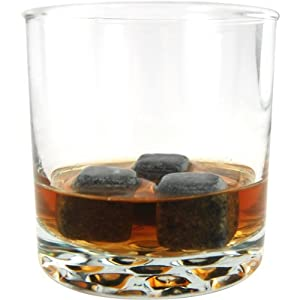 Spirit Stones Premium Chilling Stones- Great for Sipping and Chilling Whiskey and Liquor, Made of 100% Soapstone, 9 Stones Per Gift Set Black Carrying Bag Included (Value Set) from Spirit Stones