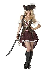 Sexy Swashbuckler Costume - XX-Large - Dress Size 14-16 by California Costumes
