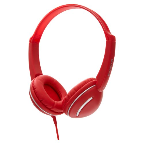 Groov-e GV897/RD Kids DJ Style Streetz Headphones with Volume Control - Red