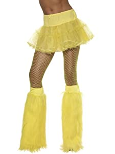 Yellow Neon Furry Costume Accessory Bootcovers