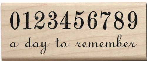 Hampton Art Rubber Stamp -A Day to Remember -