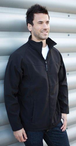 Mens Regatta Uproar Softshell Jacket XXX-Large Black/Seal Grey