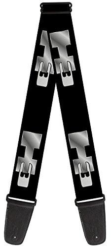 general-motors-nylon-guitar-strap-hummer-h3-black-silver-logo-repeat