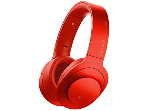 Sony H.ear on Wireless NC Headphone, Cinnabar Red (MDR100ABN/R)
