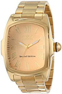 Invicta Men's 15192 Lupah Gold Dial Stainless Steel Dress Watch