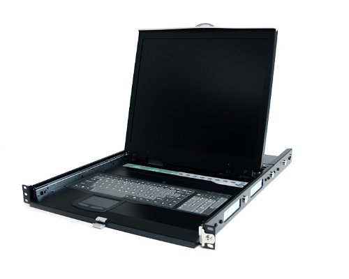 StarTech.com 1UCABCONS19 1U 19-Inch Rackmount LCD Console with Rear Mount KVM Switch Module (Black)