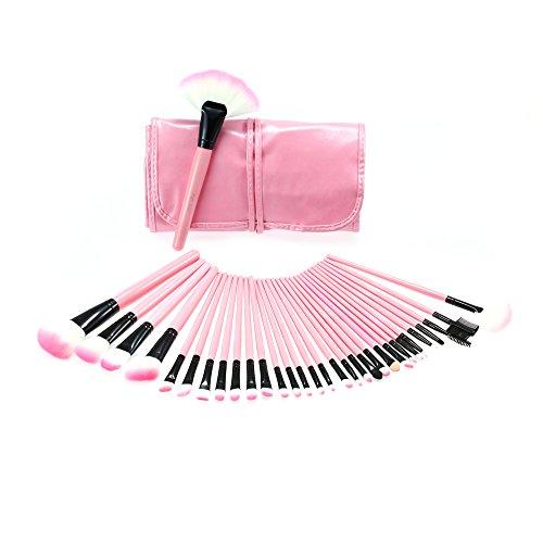 Abody Professionale Make Up Set - 32 PCS Trucco Cosmetica spazzole di trucco set / Pennelli trucco Tools con caso di cuoio