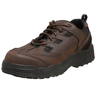 Amazon.com Worx By Red Wing Shoes Menu0026#39;s Non-Metallic Safety-Toe Athletic Oxford Brown 7 M US ...