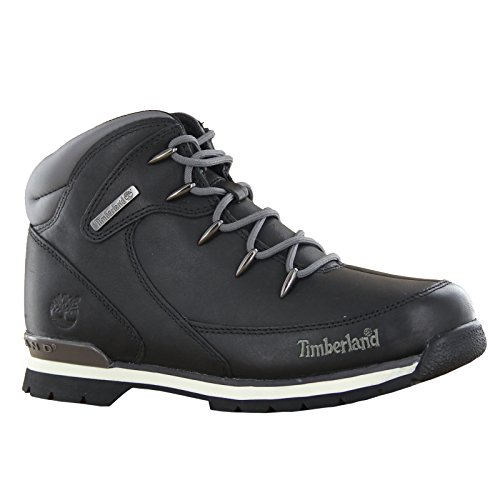 Timberland Euro Rock Hiker Black Youths Boots Size 7 Us