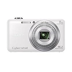 Sony Cybershot DSC-WX80/W 16.2MP Digital Camera (White)