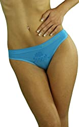 ToBeInStyle Women's Floral Print Designed Thong