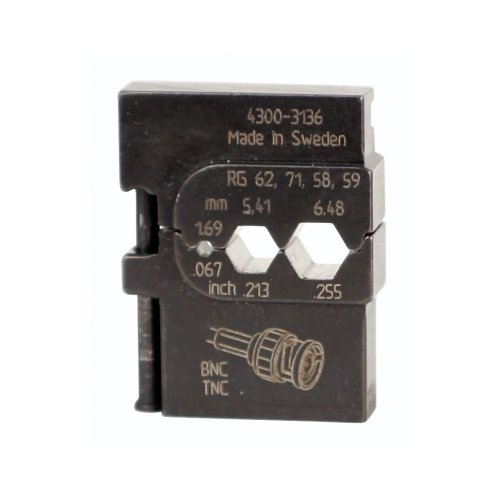 Wiha 43136 PortaCrimp Coaxial Network and Communications Die Set For RG58, RG59, RG62AU and BNC/TNC