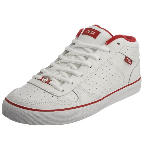 C1RCA Men's 8 Track Skateboarding Shoe White/Red 8TKWRD 4 UK