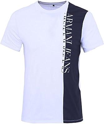 Armani Jeans Logo Panel T-Shirt White