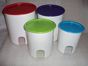 Tupperware 20 Oz One Touch Canister Set 4pc