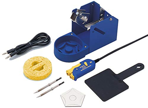 Hakko FM2023-05 SMD Mini Tweezer with T9-I Tips and FH200-04 Stand for the FM202 and FM203 Stations (Color: Blue/Yellow)