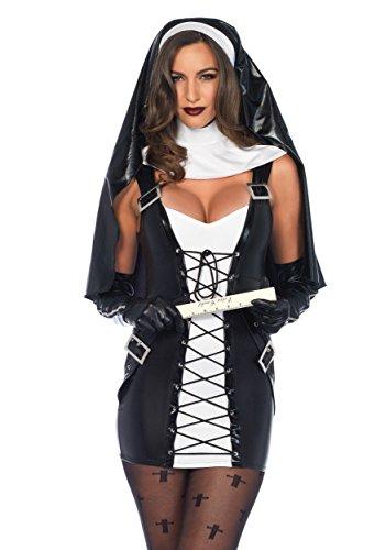 [Leg Avenue womens Women's Naughty Nun Costume Small/Medium] (Naughty Nun Halloween Costumes)