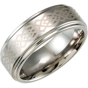 Elegant and Stylish Ridged Band in Tungsten ( Size 9.5 ), 100% Satisfaction Guaranteed.
