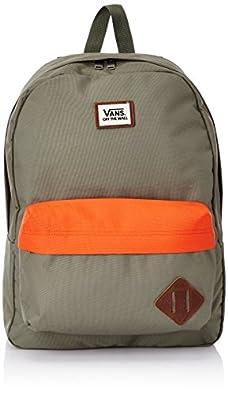 Vans Old Skool II, Men's Backpack, Army/Flame, One Size