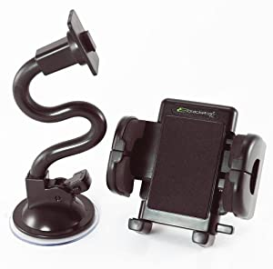 Bracketron PHW-203-BL Mobile Grip-iT Rotating Windshield Mount for GPS