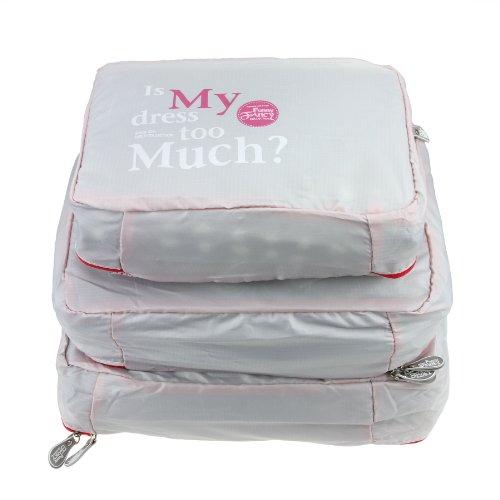 [Official Shop] BXT Travel Essential Bags-in-Bag,Travel Storage Mesh Bag Organiser Set of 3 -Grey