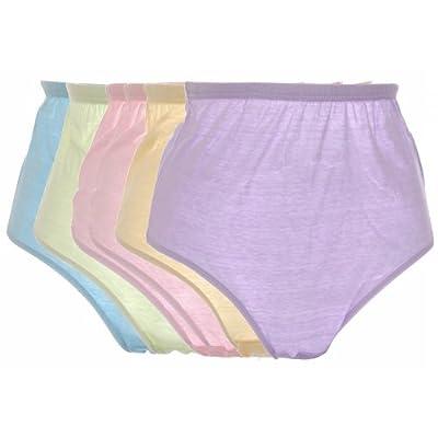 Damen/Frauen Unterwäsche Unterhosen, 100% Baumwolle, 2 Varianten (6er Pack)