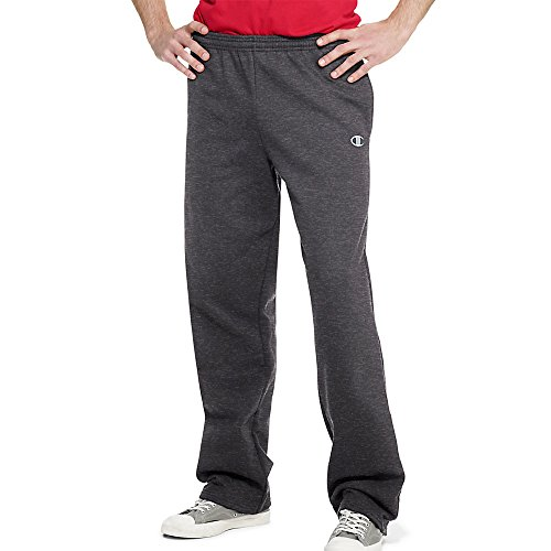 Champion Eco Fleece Open-Hem Men's Sweatpants_Granite Heather_Small (Champion Sports Bra Girls compare prices)