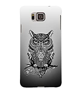 Indian Owl Tatto 3D Hard Polycarbonate Designer Back Case Cover for Samsung Galaxy Alpha G850
