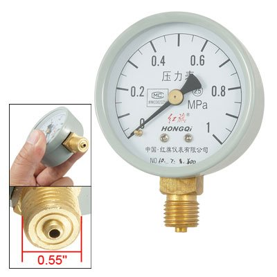 """Round Dial 0.55"""" Npt 1 Mpa Measure Tool Pressure Gauge front-40874"""