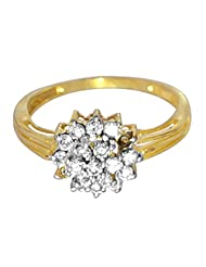 R S Jewels Ethnic Latest Designs Women's Cz Gold Plated Ring Jewellery
