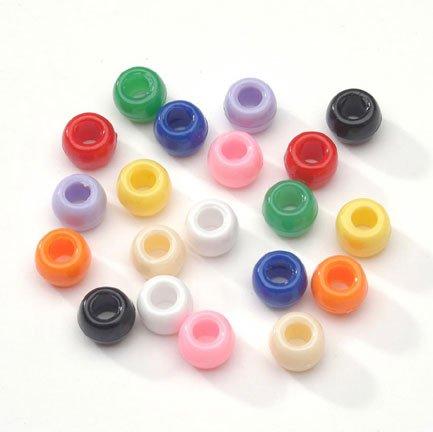 Big Value 9MM Everyday Opaque Pony Beads - Assorted Colors (720 pieces)