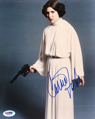 Carrie Fisher Star Wars Signed Authentic 8x10 Photo Autograph Psa/dna #i85578 - Signed Photographs